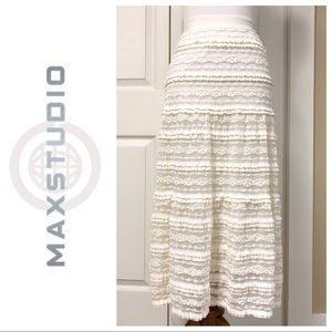 JUST IN❗️MAX STUDIO WHITE LACE MAXI SKIRT